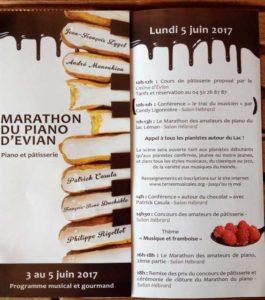 Le Marathon Piano à Evian 2017